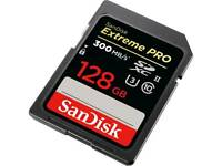 SanDisk Extreme PRO 128 GB up to 300MB/s UHS-II Class 10 U3 SDXC Memory Card