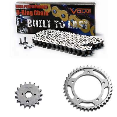 Volar O-Ring Chain and Sprocket Kit - White for 2007-2008 Suzuki GSXR 1000 O-ring Chain Sprocket