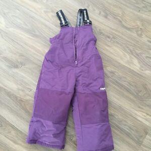 Oshkosh purple snow pant- 2t- $15