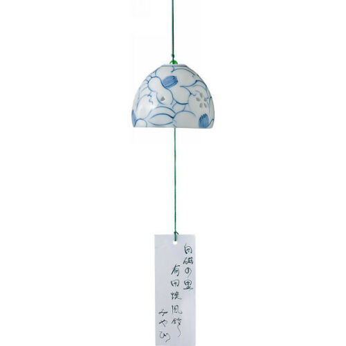 From Japan Furin Glass Wind Chime Bell Arita Pottery