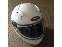 White caberg motorbike helmet XL