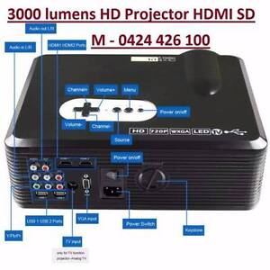 3000LM HD Projector Multimedia Home Cinema Theatre HDMI USB SD Noble Park Greater Dandenong Preview