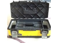 """TOOL BOX LOCKABLE STANLEY 23""""/59cm used £9.50 buyer collect"""