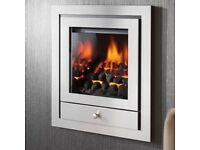 Contemporary Gas Hole in Wall Fire. Boxed, New.