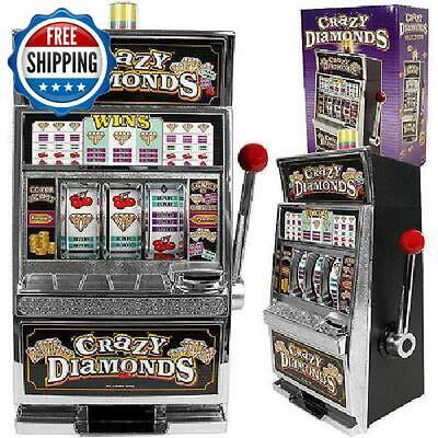 Crazy Diamonds Large Casino Slot Machine Bank W/ Sounds & Flashing Jackpot