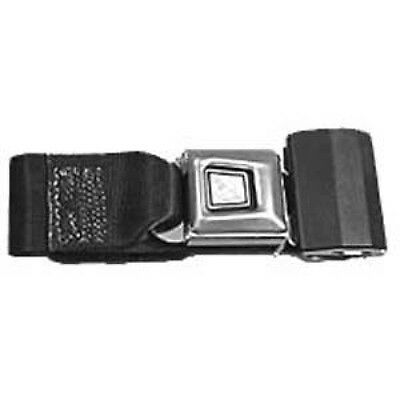 Seat Belt, Black Fits Vintage Chevy Cars And Trucks Sold Each # 857138-CHV