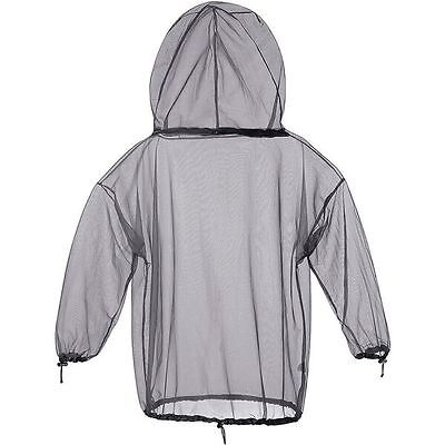 MOSQUITO MIDGE PROTECTION NET JACKET WITH HOOD & CARRY BAG