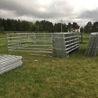 Galvanized farm gates, Corral panels, Dog Kennels and Round pens