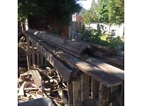 Timber reclaimed used decking gate fence dog run