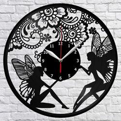 Fairy Vinyl Record Wall Clock Fan Art Home Decor 12 30cm 2019