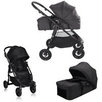Baby jogger with bassinet in black