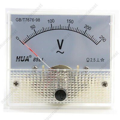1 Ac250v Analog Panel Volt Voltage Meter Voltmeter Gauge 85l1 Ac0-250v