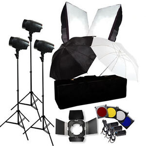 Flash Kit 540w Photography Studio Strobe Light Umbrella Softbox