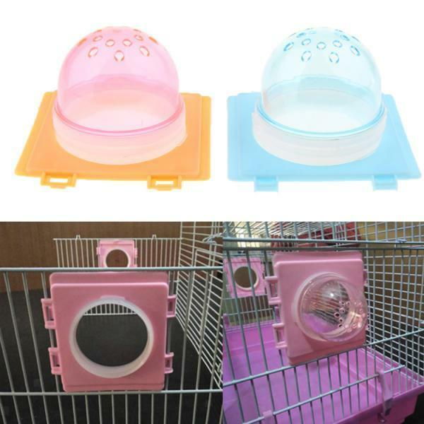 2x Hamster Tunnel Fittings Transparent Cage Plug Accessories Small Pet Toys