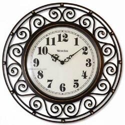 Westclox Wrought Iron Style 12 Round Wall Clock