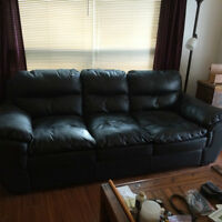 hide bed, leather couch dresser night table entertainment sink