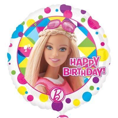 Barbie Scintillant Joyeux Anniversaire Standard Ballon Plat 43.2cm - Filles](Barbie Ballon)
