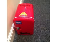 Red 4L mini fridge