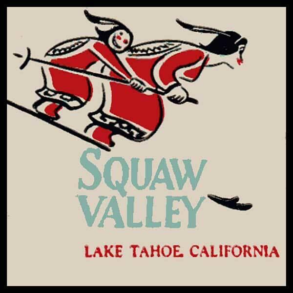 Squaw Valley Ski Resort Lake Tahoe. CA Fridge Magnet
