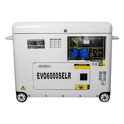 6.5kVA 5.5kW 'Silent' Single Phase 230v Diesel Generator Electric Start Engine