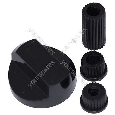 Flavel Universal Cooker/Oven/Grill Control Knob And Adaptors Black