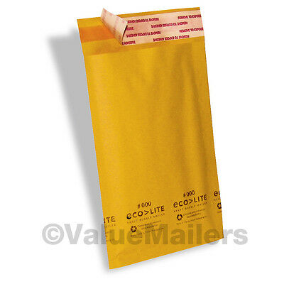 250 4x8 000 Ecolite Brand Made In Usa Kraft Bubble Mailers Padded Envelopes