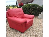 Beautiful Quality Red Leather Chair