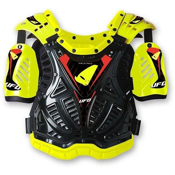 Pettorina moto cross enduro Ufo Shield One giallo fluo taglia unica omologata