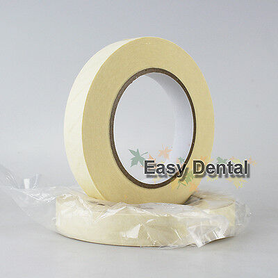 2 Rolls Autoclave Sterilization Indicator Tape Dental Tattoo Supply 19mmx50m