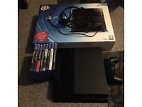 PS4 boxed with one pad and 8 games swaps.