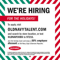 Seasonal Brand Associate Old Navy Hyde Park