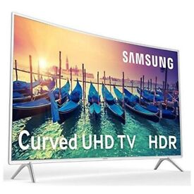 Samsung Curved 55 Inch 4K Ultra HD Smart TV With Freesat in Rare White Colour
