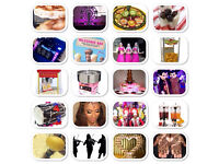 Choclate Fountian Pop corn /candy floss nacho Micky mouse Dhol /Asian DJ /fruit display