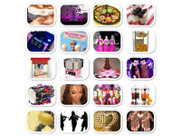 House lights / Pop corn /candy floss nacho Micky mouse Dhol /Asian DJ /fruit display. Dancers