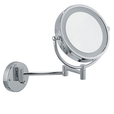 Infiniti Pro Wall-Mount Vanity Mirror 8.5 inch Chrome LED Cosmetic Makeup Light Chrome Wall Mount Mirror