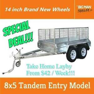 8x5 Galvanised Fully Welded Tandem Trailer 2T ATM Entry Model New Carrum Downs Frankston Area Preview
