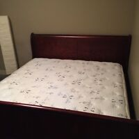 King size bed w/ frame