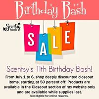Scentsy Sale! Savings starting at 50% off!