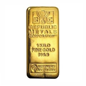 1 kg Gold Bar (Cast) - Republic Metals Corp