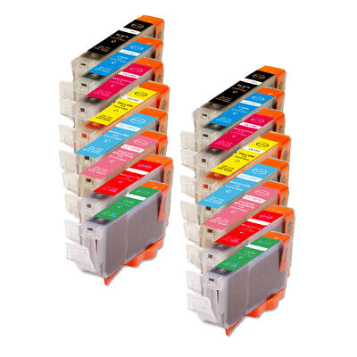 16 Pack Compatible Ink Cartridges for CLI-8 Canon Pixma Pro9000 Mark II Printer Canon Cli 8 Cartridges