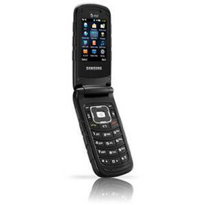 samsung rugby II sgh-a87a black tough rodger's flip phone