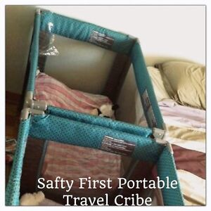 (price dropped 30$ EACH)Two Safty First travel system cribes West Island Greater Montréal image 1