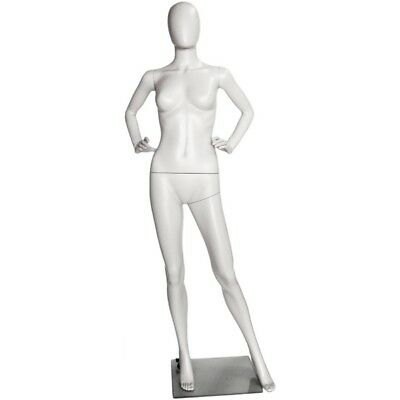 Mn-243 White Plastic Female Full Size Egghead Mannequin With Removable Head