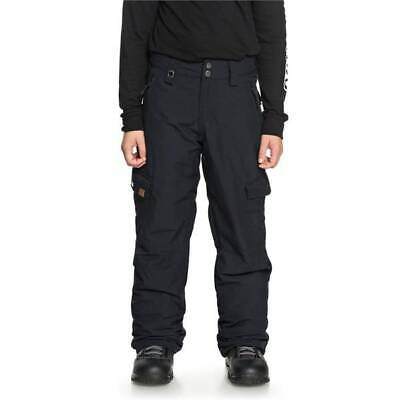 Quiksilver Porter Snowboard Pants Boys Large Black Warm Dry Flight KVJ0 12/L New