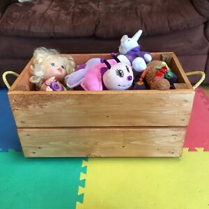 New Country Style Wood Toy Box