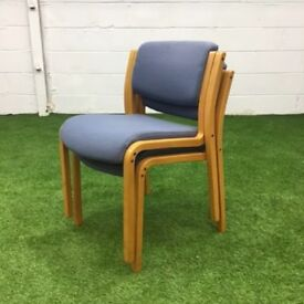 Grey Stackable Meeting Chair with Beech Frame 7 available