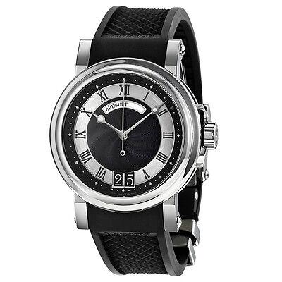 Breguet Marine Automatic Black Dial Black Rubber Strap Mens Watch 5817ST925V8
