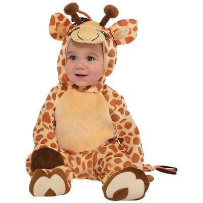 Flauschiges Giraffen Baby Kostüm  NEU - Mädchen Karneval Fasching Verkleidung Ko ()