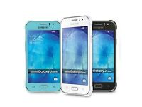 Samsung Galaxy J1 Ace BRAND NEW IN BOX Available in light blue, black and white