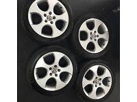 VW Golf GTI Alloys and tyres. BRIDGSTONE ++BARGAIN**